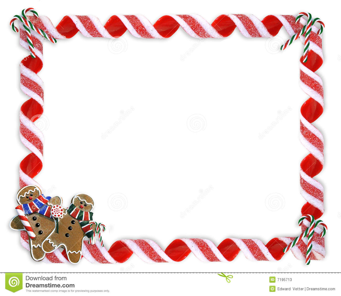 Christmas Cookies And Treats Border Royalty Free Stock Photo.