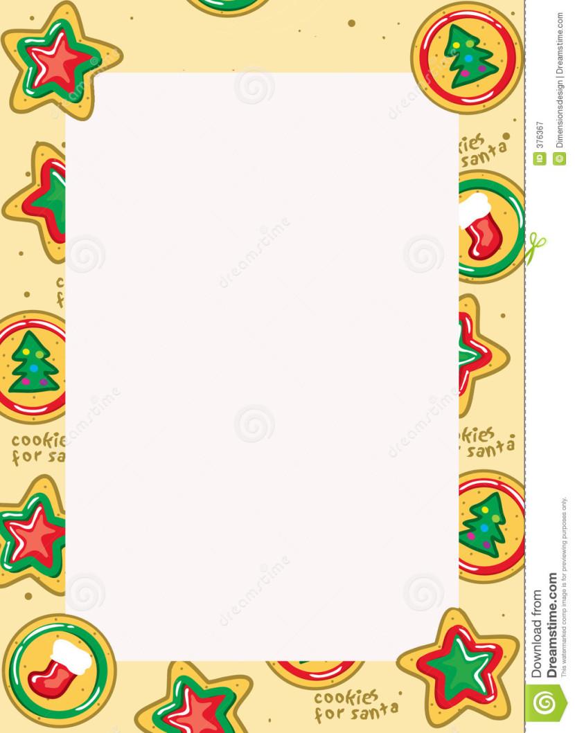 Christmas Cookie Border.