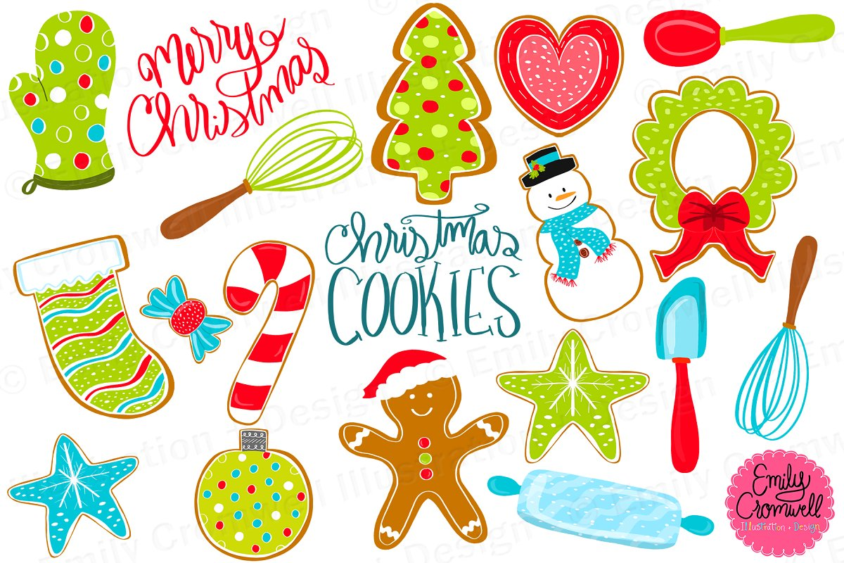 Christmas Cookie Clipart.