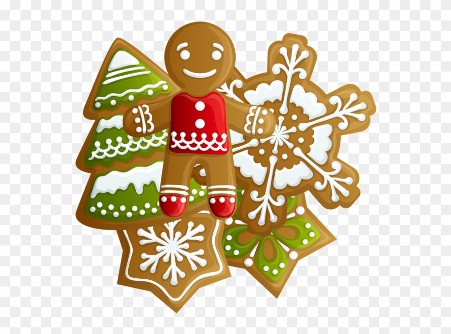 Transparent Christmas Gingerbread And Cookies Png Clipart.