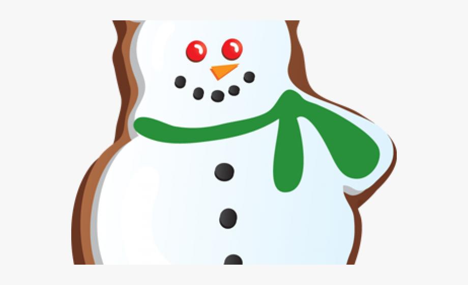 Snowman Clipart Cookie.