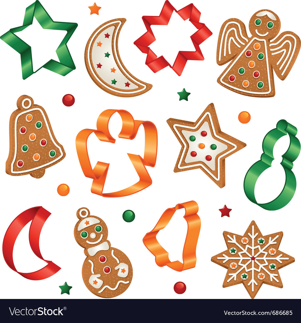 Christmas cookies and cookie cutters.