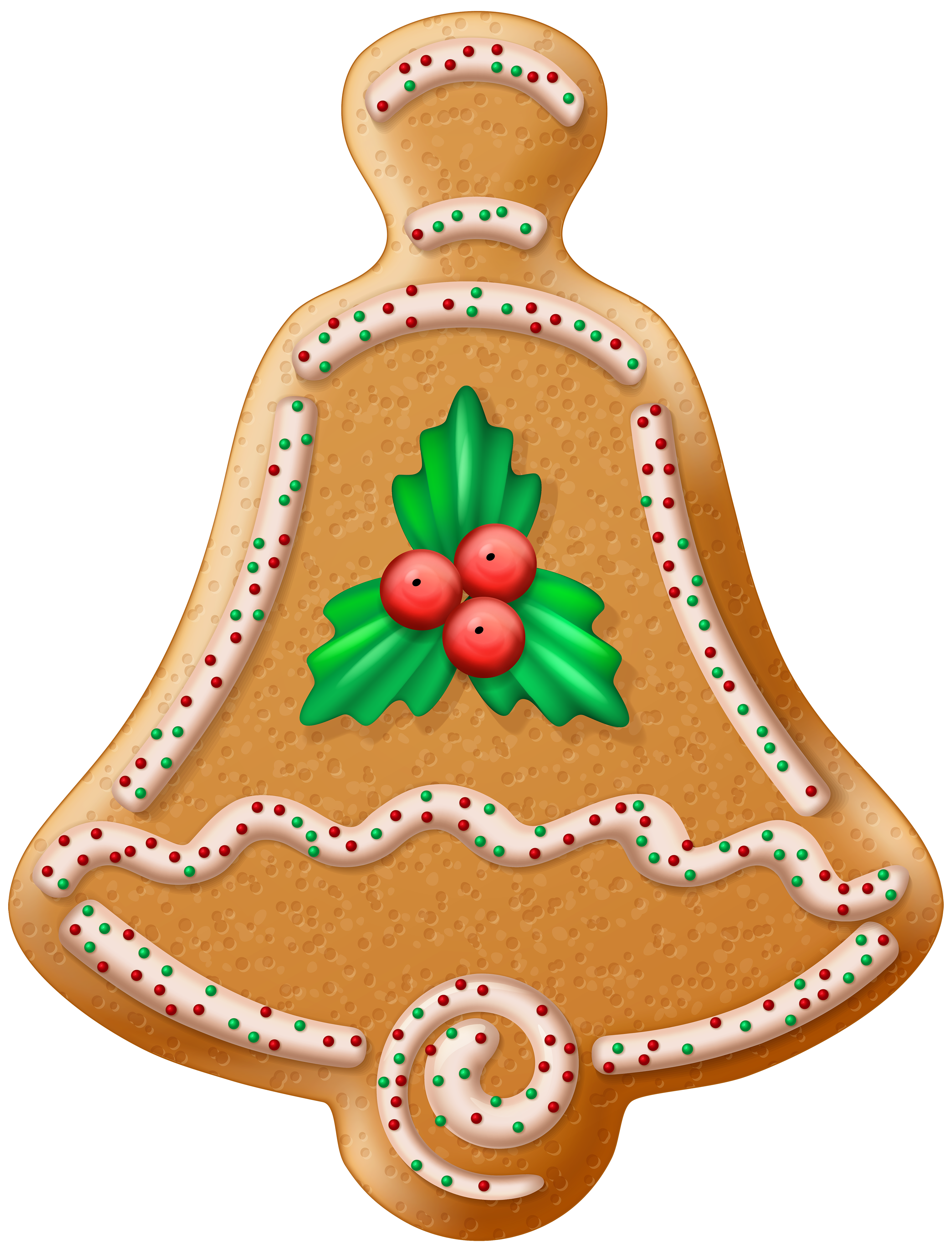 Christmas Cookie Bell Transparent PNG Clip Art Image.