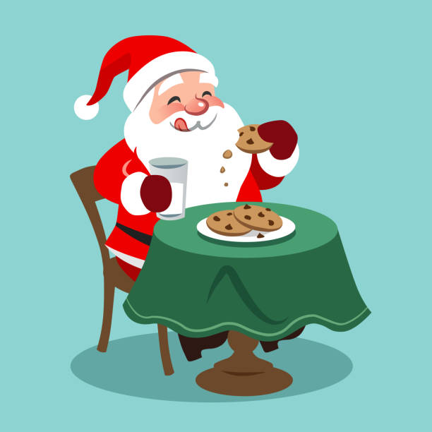 Best Milk And Cookies For Santa Illustrations, Royalty.