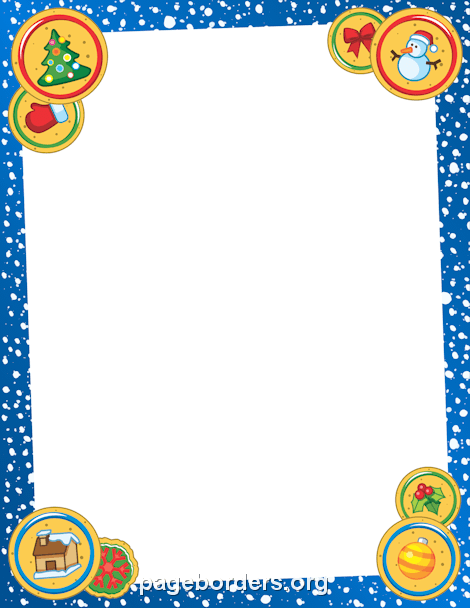 Christmas Cookie Border: Clip Art, Page Border, and Vector.