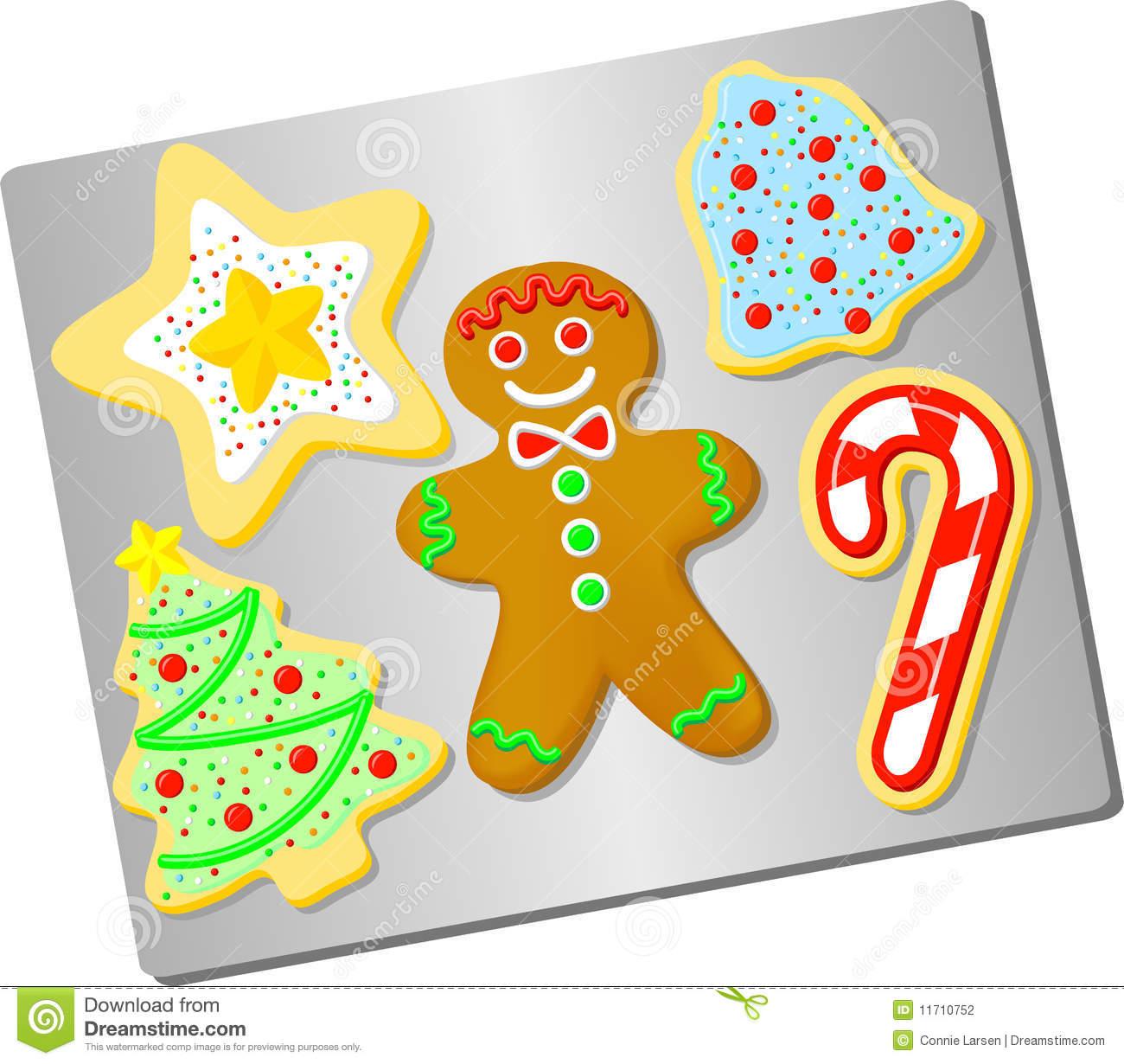 Christmas Sugar Cookie Clipart.