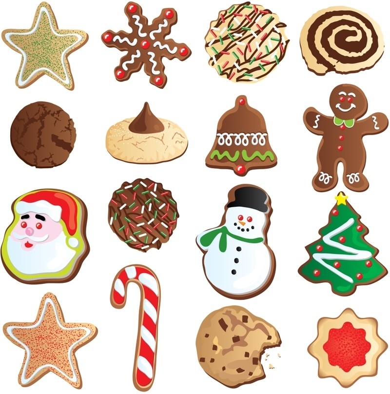 Free clipart christmas cookies border.