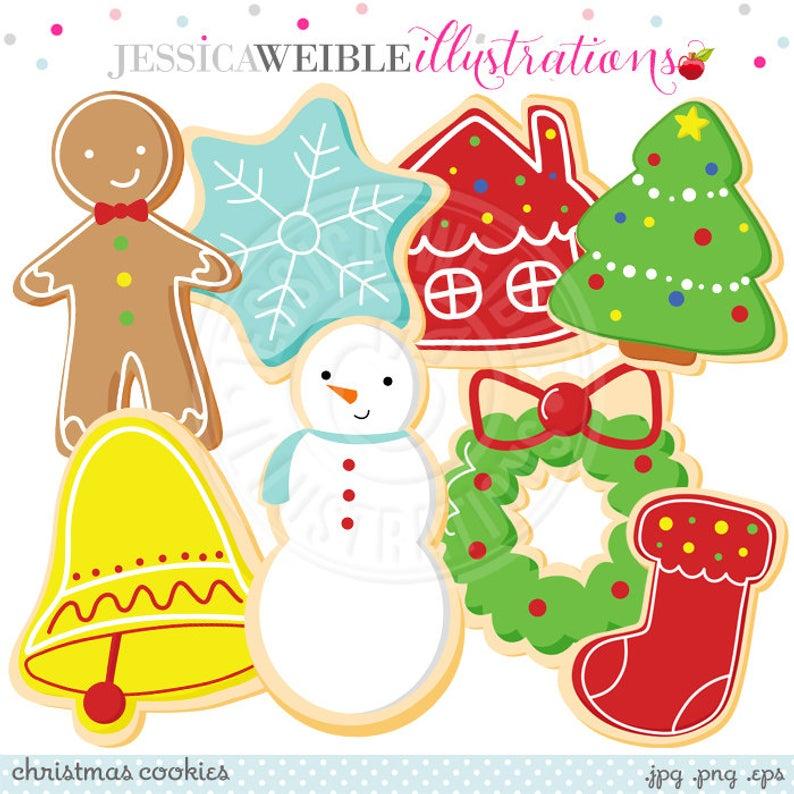Christmas Cookies Cute Digital Clipart.