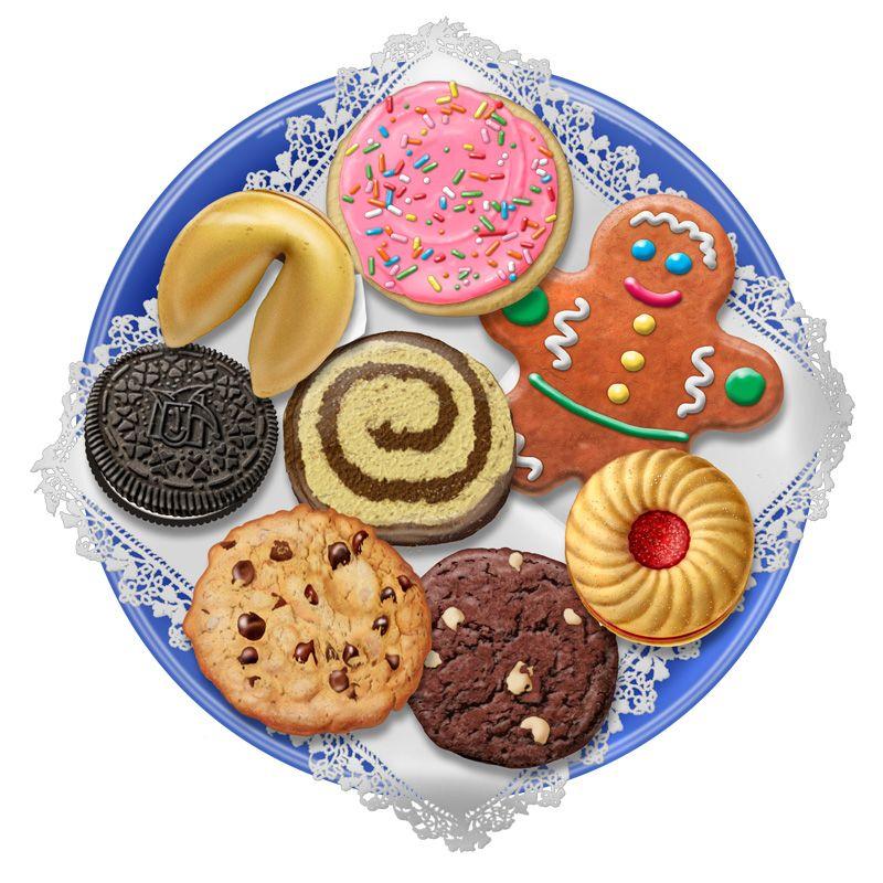 Christmas Cookie Platter Clip Art.