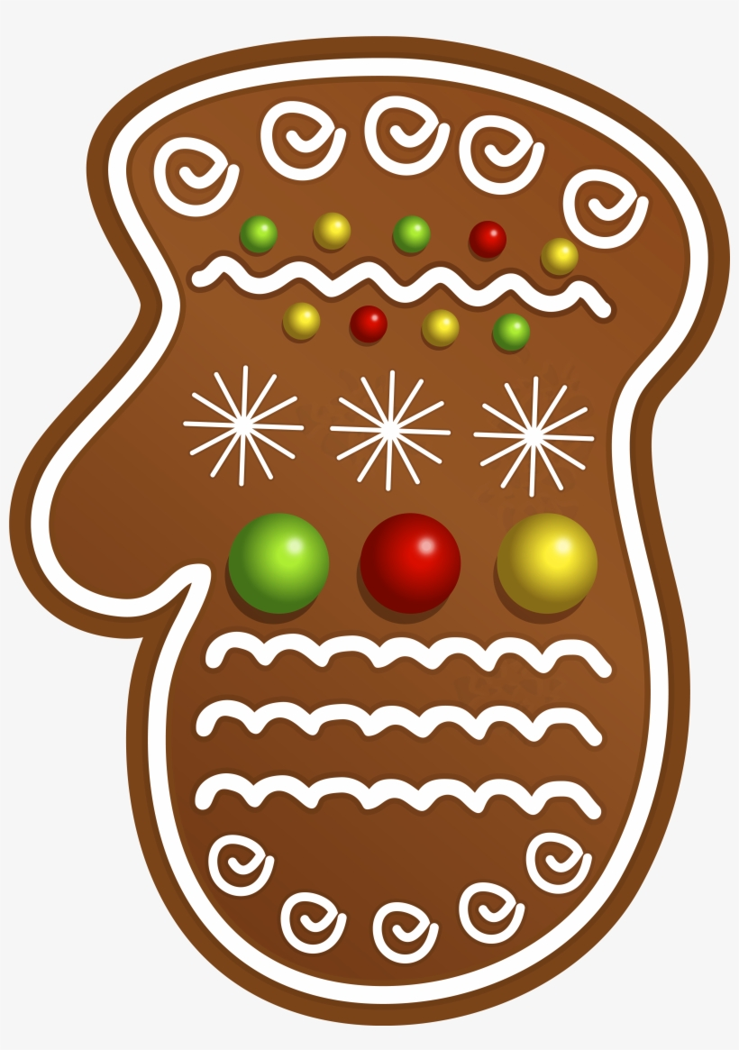 Christmas Cookie Glove Png Clipart Image.