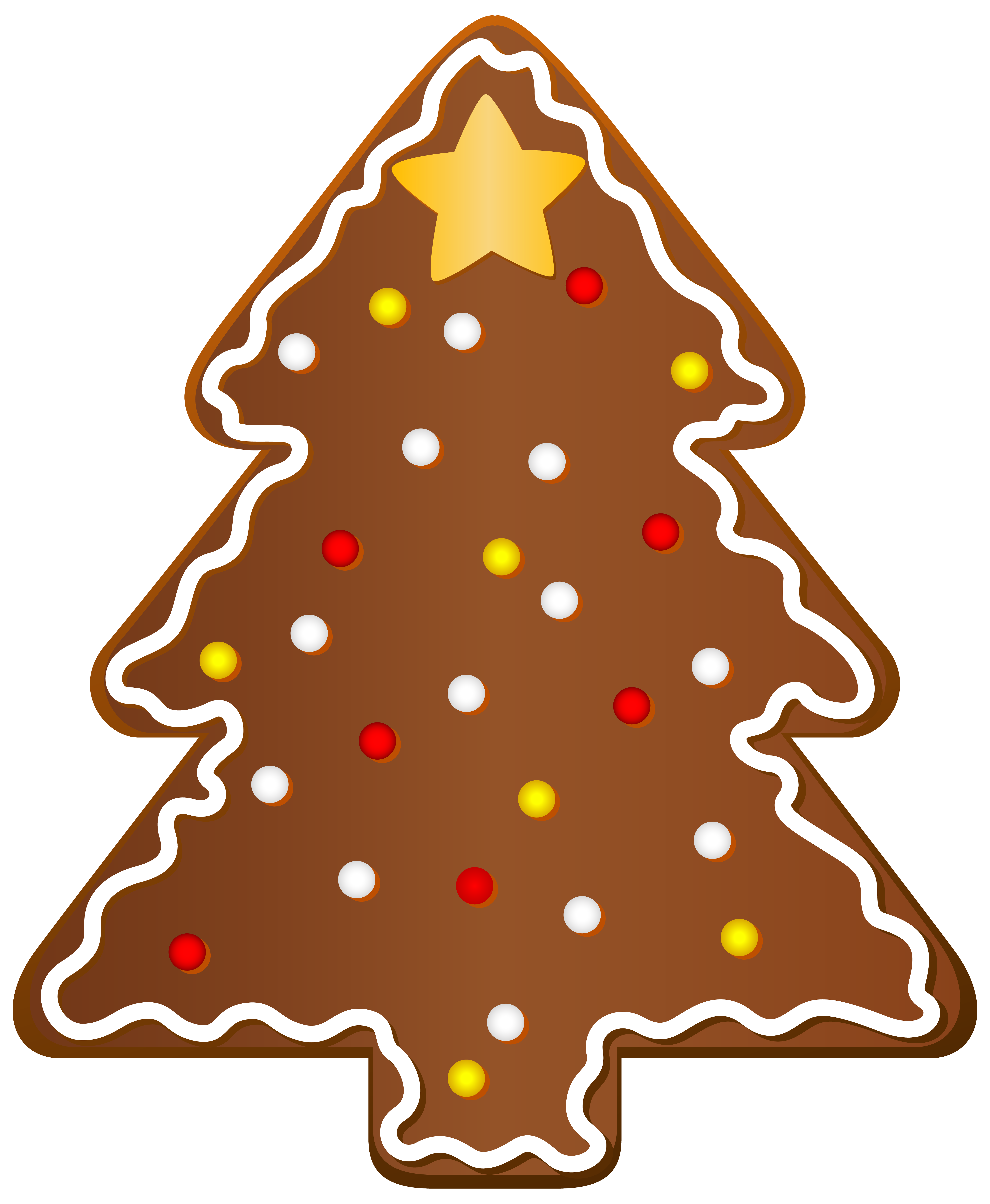 Christmas Cookie Tree Clipart PNG Image.