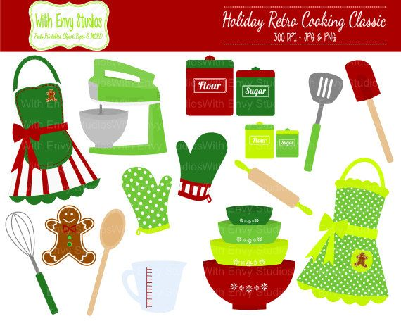 50 OFF Cooking Clipart Baking Clipart Holiday by WithEnvyPaper.