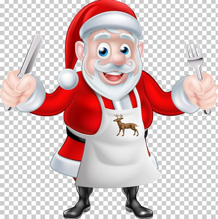 Santa Claus Chef Cooking Christmas PNG, Clipart, Cartoon, Cartoon.