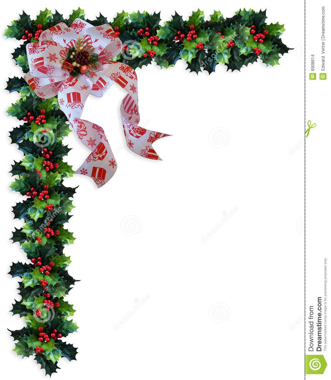 Christmas Corner Border Clip Art.