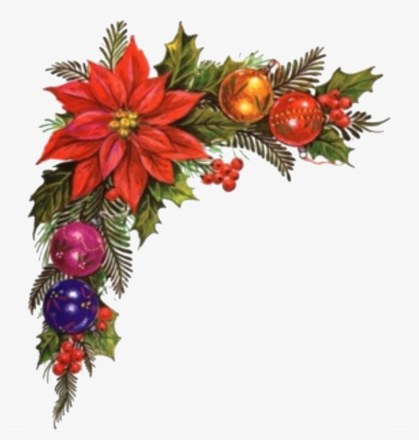 Christmas Corner Decorations Png.