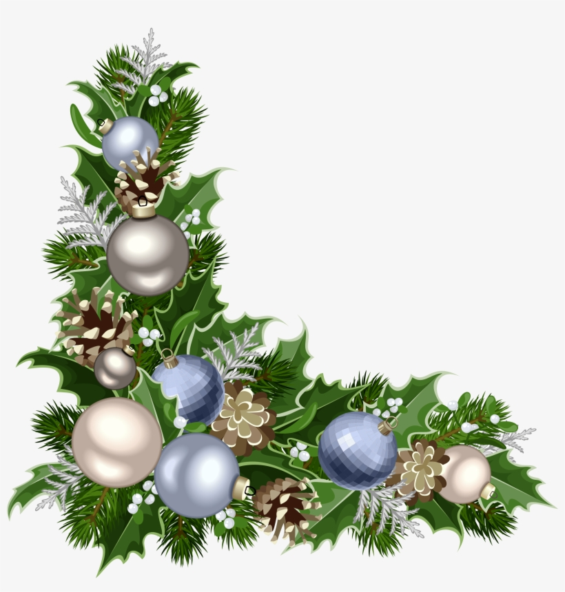Christmas Deco Corner With Decorations Png Picture.