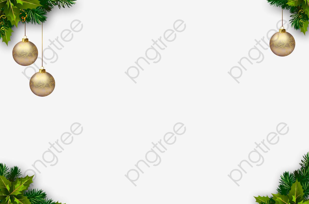 Christmas Border, Christmas Corner, Green, Ball PNG Transparent.