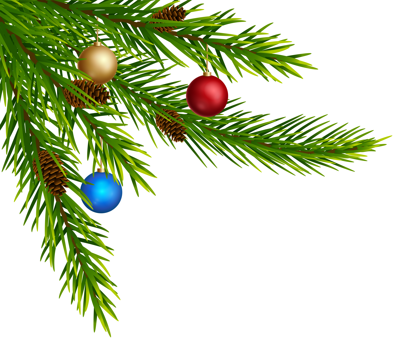 Christmas Decorative Corner PNG Clip Art.