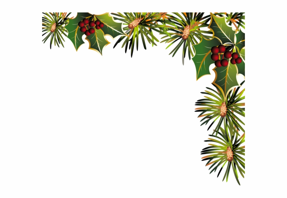Decorative Transparent Christmas Corner Panel.