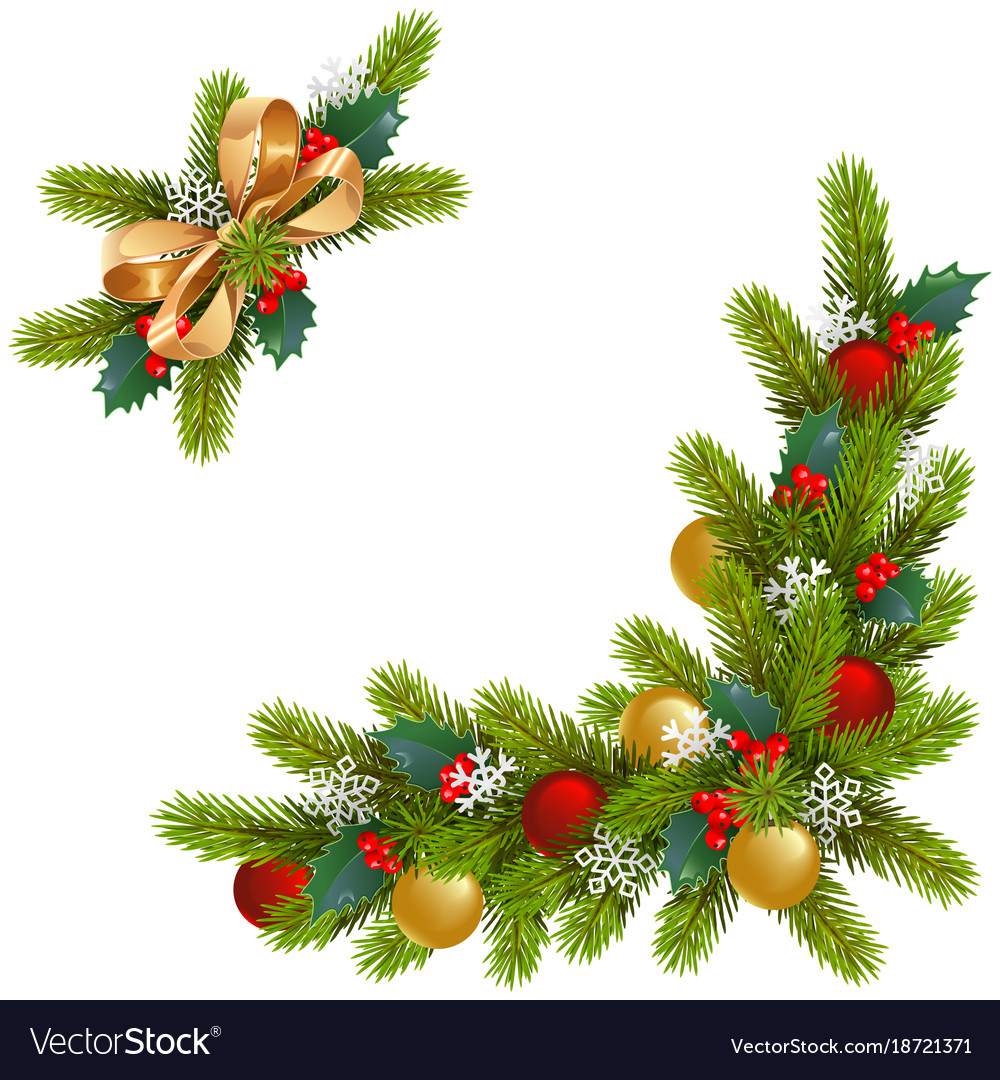 Christmas corner decorations.