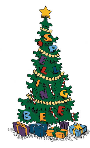 Christmas Bees Clipart.