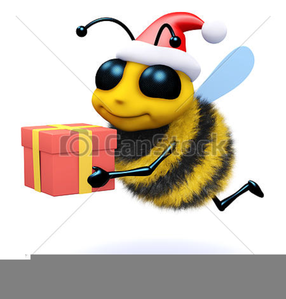 Christmas Honey Bee Clipart.