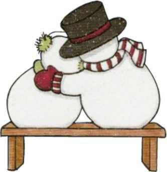 Snowman couple.