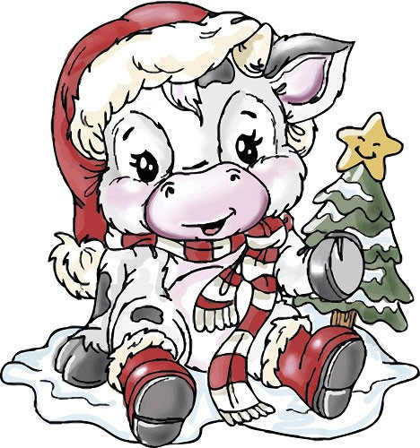 Christmas Cow Pictures.
