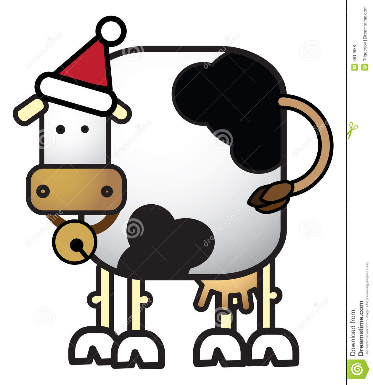 Christmas Cow Clipart.