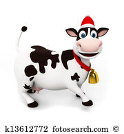 Christmas cow Illustrations and Clipart. 268 christmas cow royalty.