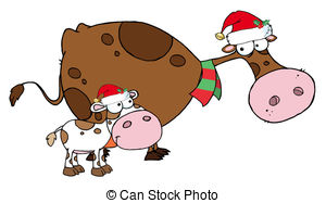 Christmas cows Clipart Vector and Illustration. 284 Christmas cows.