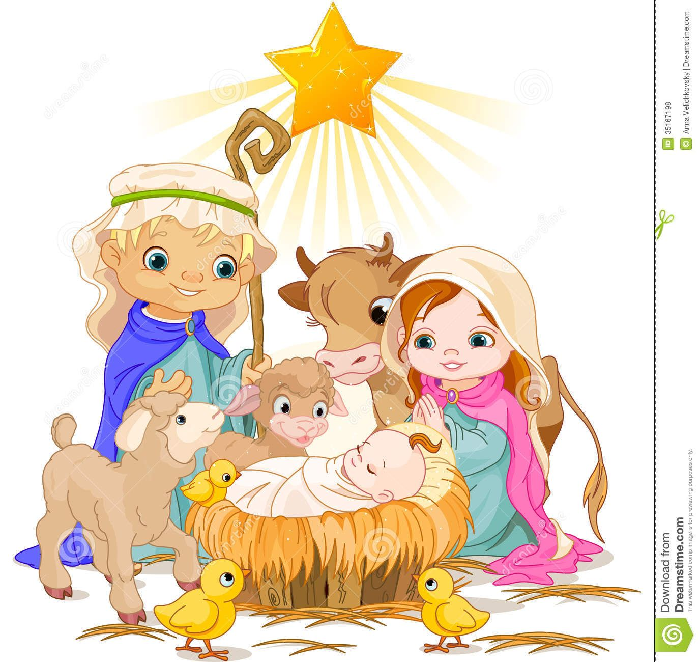 Free Christmas Nativity Scene Clip Art.
