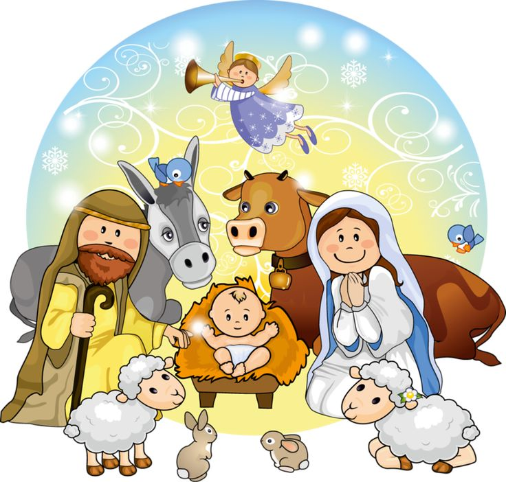Cute Nativity Clipart.