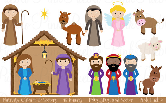 Clip art christmas nativity scenes.