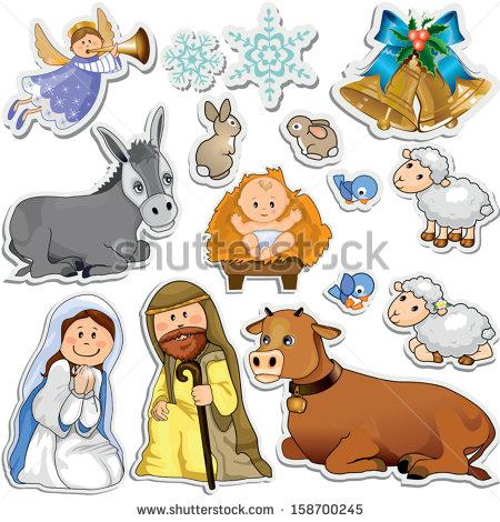 Christmas Crib Stock Images, Royalty.