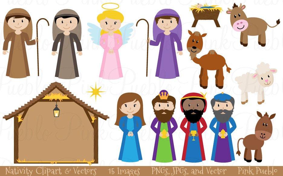 Christmas Nativity Clipart & Vectors.