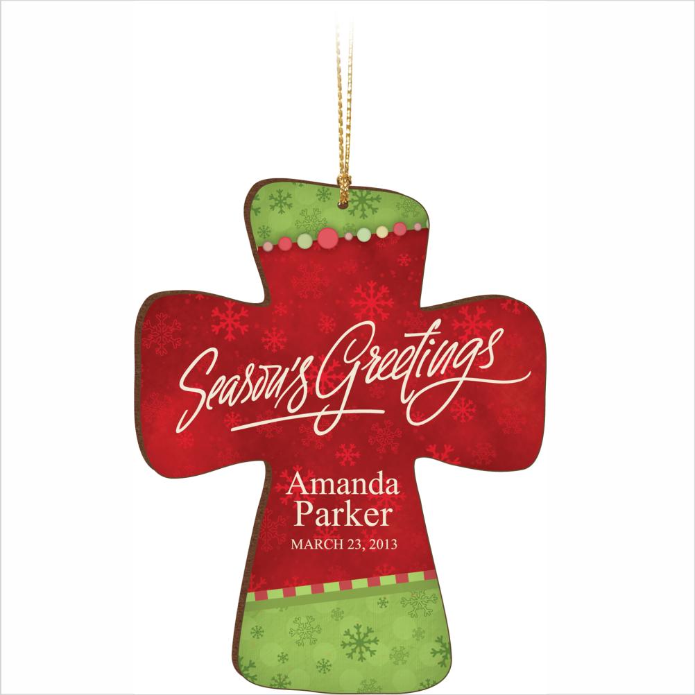 Christmas Ornament, Cross.