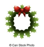 Vector Clipart of Christmas Crown Flat Icon.
