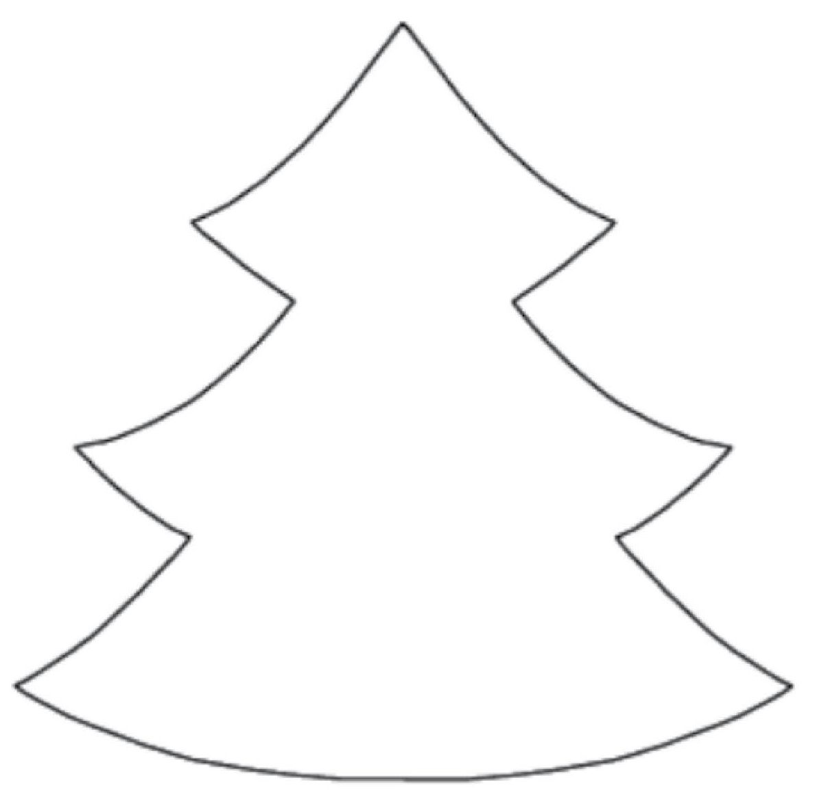 Christmas Tree Cut Out Template.