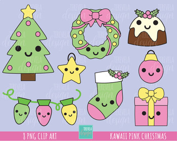 50% SALE CHRISTMAS clipart, pink christmas, cute christmas, christmas  graphics.