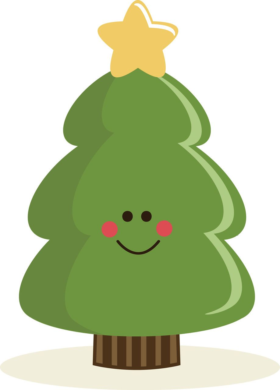 Cute Christmas Tree Clipart.