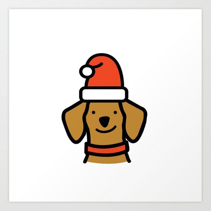 Christmas Dachshund.