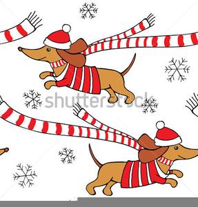 Christmas Dachshund Clipart Free.