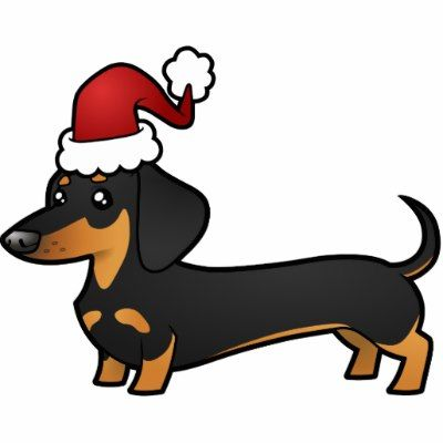 Christmas Dachshund Ornament (smooth coat).