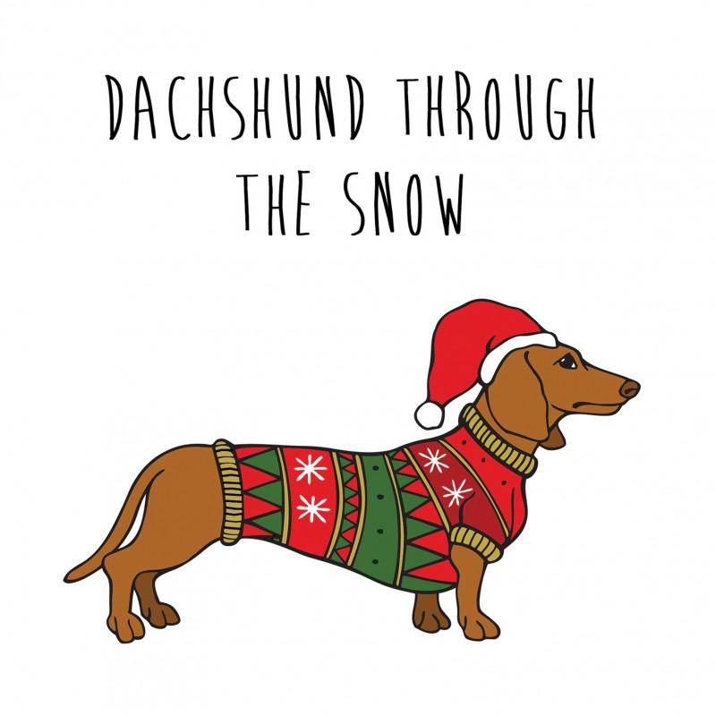 Christmas Dachshund Clipart.