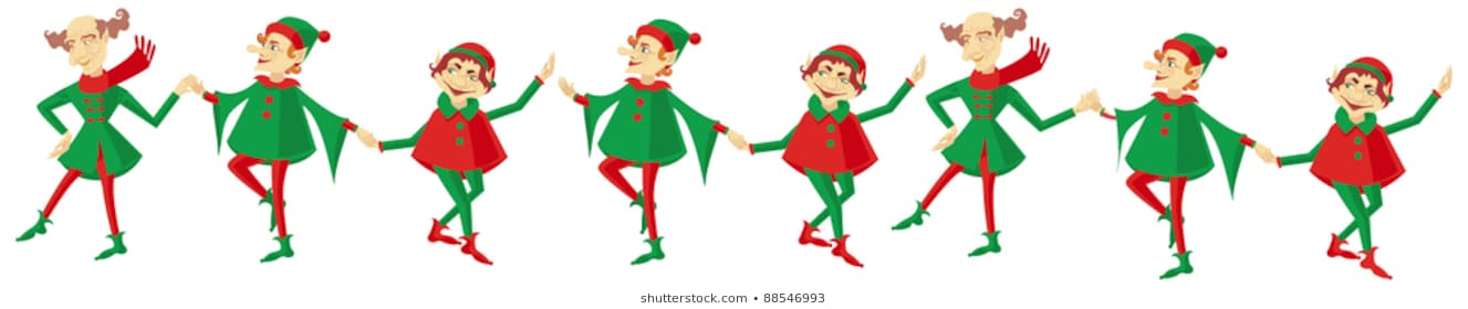 2817 Christmas Elf free clipart.