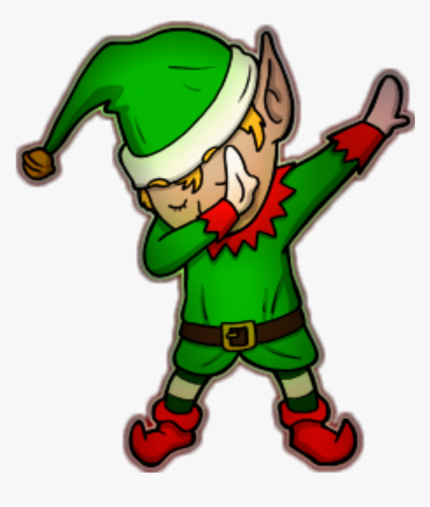 Christmas Elf Dabbing Clipart , Png Download.