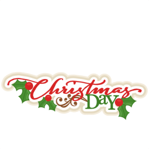 Christmas Day Title scrapbook clip art christmas cut outs for cricut.