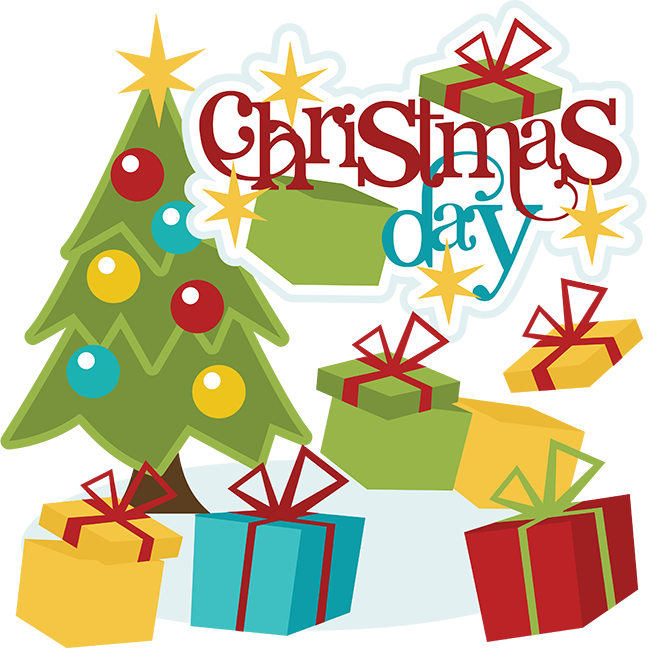Christmas Day Scrapbook Svg Cute Clip clipart free image.