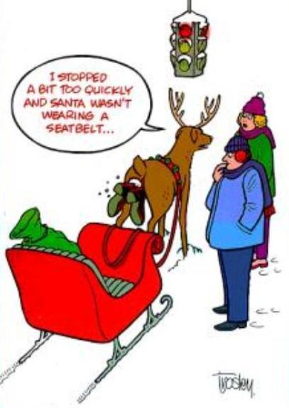Christmas humor clipart.